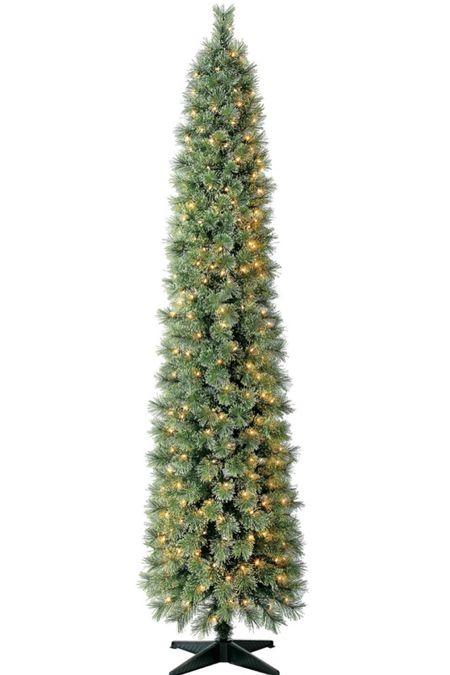 RUN - 7' pre lit skim Christmas tree is back in stock!!   #LTKhome #LTKHoliday #LTKunder100