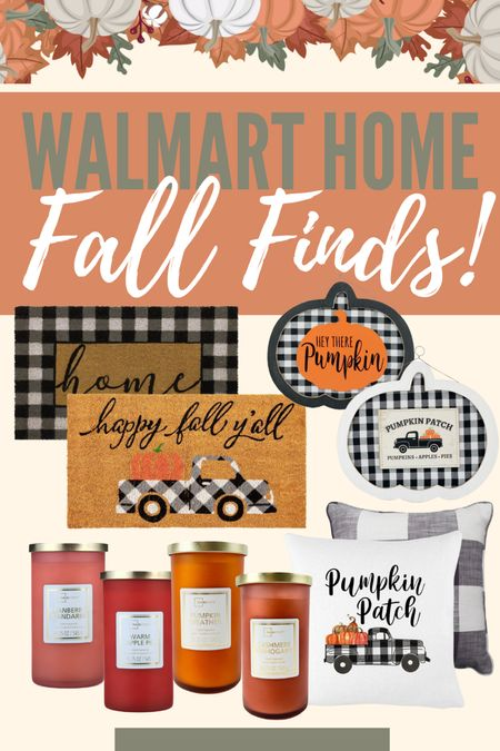 So many amazing fall home decor finds at @walmarthome! I am loving the gingham pattern mixed with the warm fall tones to decorate our house! These candles are also amazing! #walmart #walmartfinds #falldecor #fall #home #homedecor #ad  #LTKhome #LTKHoliday #LTKSeasonal