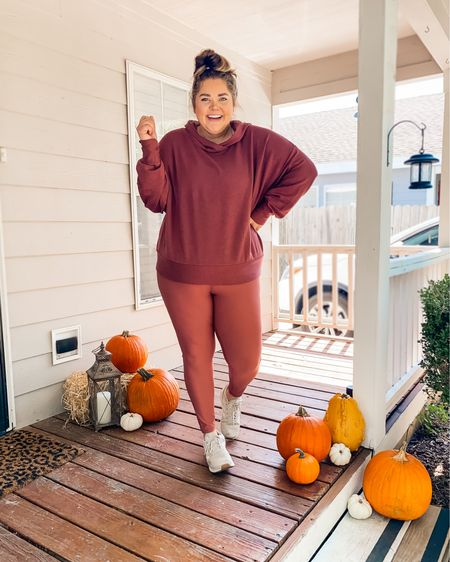 Let's get active, pumpkin. 🎃🍂honestly, these days I'm not putting pressure on myself to be super fit, but I'm taking advance of the cooler weather with my new @fabletics 🍂 these colors are perfect for fall + the Bo hoodie is my newest obsession. SO SOFT.  Plus, I'm sharing another way to style it on my stories. Click the LINK in my bio to shop or open the @liketoknow.it app. ✨ #liketkit http://liketk.it/2Y4Y2 #LTKfit #LTKcurves