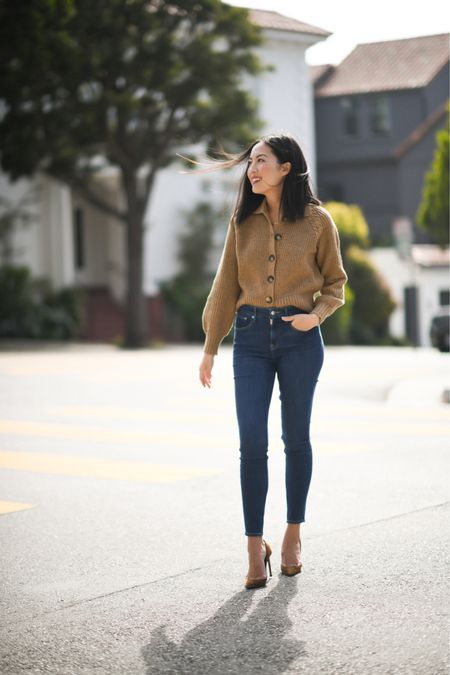 Cardigan ❤️ The oversized collar on this one makes it special! I'm wearing a size Small and a size 2 in the jeans - both are under $30! @walmart # ad #WalmartFashion  #LTKunder50 #LTKworkwear #LTKstyletip