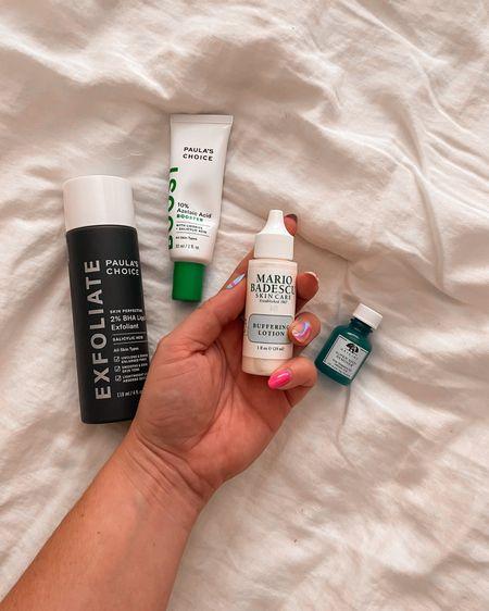 Hormonal cystic acne skincare routine Toner  Salicylic acid  Mario badescu BHA     #LTKbeauty #LTKunder50