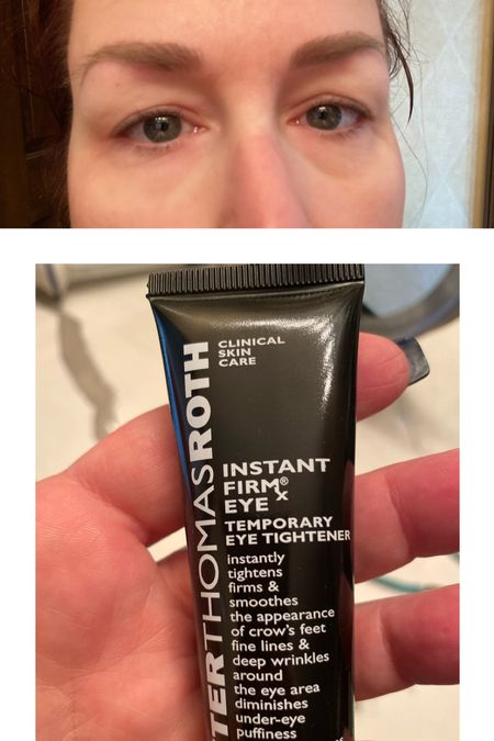 We have all seen that viral TickTock and I'm here to tell you it is 100% true. This item is very hard to find and I know this is a huge tube, but $98 is definitely worth it!  The eye on the left has been treated with PTR firmx and the eye on the right is untreated  #LTKbeauty #LTKunder100