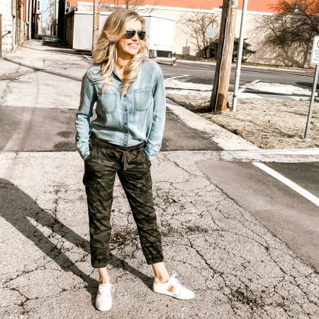 I'm obsessed with these camo joggers!! I wear them ALL year long. You need them!!! http://liketk.it/2Ayh9 @liketoknow.it #liketkit #LTKunder100 #LTKsalealert