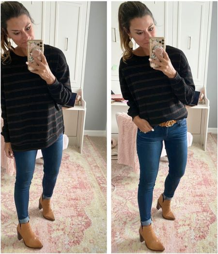 The perfect tunic for fall - everything is true to size. Wearing a small in the top and belt. Wearing a 4 in the jeans. #justpostedblog  Tunic Fall Women's style Amazon   #LTKstyletip #LTKSeasonal #LTKunder100