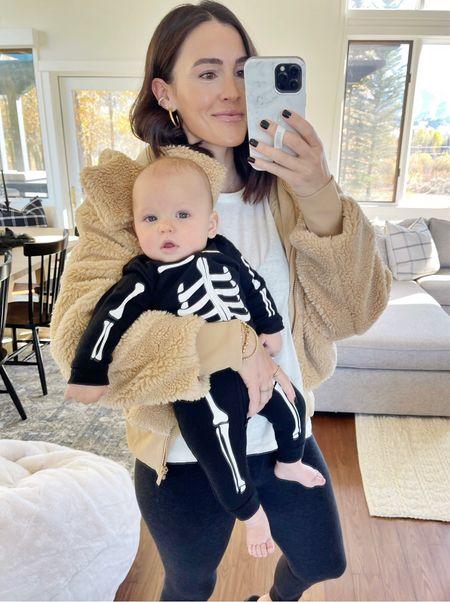 F A L L \ Cozy skeleton babe and teddy mama ova here!💀🍂   #fall #halloween #halloweencostume #fallfashion #teddy #babyboy  #LTKbaby #LTKfamily #LTKSeasonal