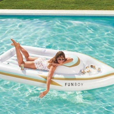 Personal Yacht Pool Float, pool noodle, floating golf cart, resort pool float. Summer pool fun.  http://liketk.it/3iiTf @liketoknow.it #liketkit  #LTKSeasonal #LTKswim #LTKhome #LTKfamily