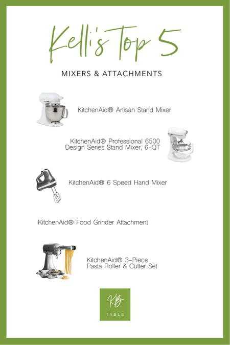 http://liketk.it/34oHw Kelli's Top 5 mixers and attachments for all your holiday cooking and baking! Swipe up to shop! #liketkit @liketoknow.it