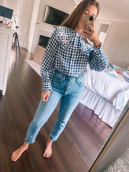 Favorite jeans on sale! True to size in both pieces 💫