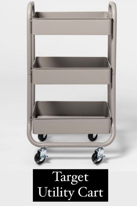 This is the Target utility cart that's almost identical to the one I shared from IKEA. A great alternative and comes in 3 colors.   #LTKbacktoschool #LTKunder50 #LTKhome