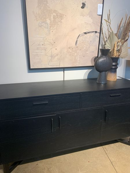 I love a black sideboard. Buffet table. Media console. Storage. Living room. Dining room. Entryway. Home decor. Interior design. Black sideboard. Home refresh.   #LTKhome #LTKfamily #LTKstyletip