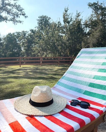http://liketk.it/3i0Bi #liketkit #LTKtravel #LTKunder100 #LTKsalealert @liketoknow.it summer pool beach hat sunglasses