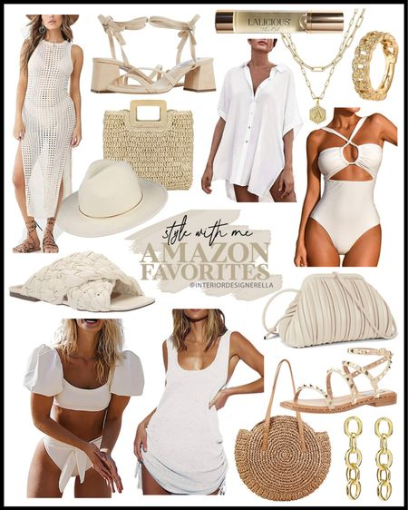 A or B? Screenshot to shop!🥰 Still a few more hours to grab all the Prime Deals! A few of the goodies here are a part of the Prime Day sale, like that round straw bag! 20% off!! I showed it in reels today!😍 I also got that white bikini & cover up that I shared in the reels too! I just bought the one piece!! You've seen that long cover up on me already! Also! Everything on the next slide is all on sale for Prime Day 2!🥳 I post a lot on my LTK Shop so for those looking to shop a post, easiest way is to follow me @interiordesignerella in the free @liketoknow.it app & then screenshot either pic above for links!💖 Instant links will appear in your screenshot section of the LTK App😊💕 Tag your girls who might like one of these Amazon picks! Love getting to shop with you girls!! Grateful for you!!! Xo!!! http://liketk.it/3iftM #liketkit #LTKunder50 #LTKunder100 #LTKsalealert