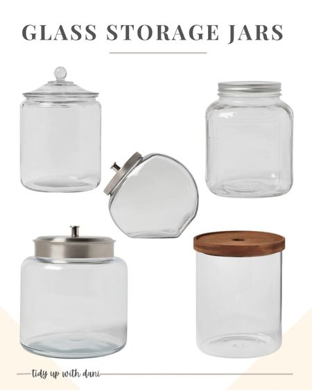 My favorite one-gallon glass storage jars and food canisters at Target! These glass jars make storing items practical and pretty. Use these glass jars for kitchen storage, pantry storage, laundry detergent, bathroom storage, craft room storage and so much more!  #LTKstyletip #LTKunder50 #LTKhome