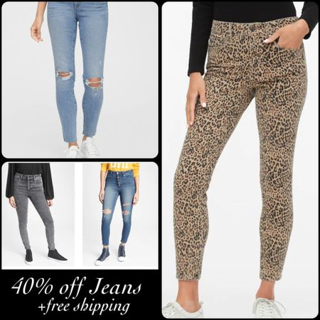 Jeans are 40% off and everything ships f r e e at GAP Factory with code SHIPPED! I was gonna see if anyone wanted me buy the leopard option and try them on for you but they are out of my size 😭😭😭. I'm so bummed! Lots of jeans options available! http://liketk.it/36YbX #liketkit @liketoknow.it #LTKunder50 #LTKsalealert #LTKstyletip