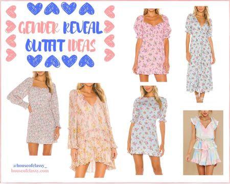 Gender reveal outfit ideas. Blue and pink dresses to wear for an exciting reveal day! Shop my daily looks by following me on the LIKEtoKNOW.it shopping app http://liketk.it/2WmUT #liketkit @liketoknow.it #LTKbump #LTKstyletip #LTKsalealert