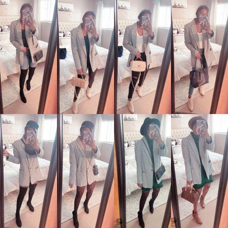 One blazer worn 8 ways Fall fashion, blazer, jacket, otk boots, booties, sweater dress, pink lily, target,  #LTKshoecrush #LTKSeasonal #LTKstyletip