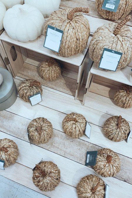 Target fall, pumpkins, target home decor, wicker pumpkin, natural home decor   #LTKSeasonal #LTKstyletip #LTKhome