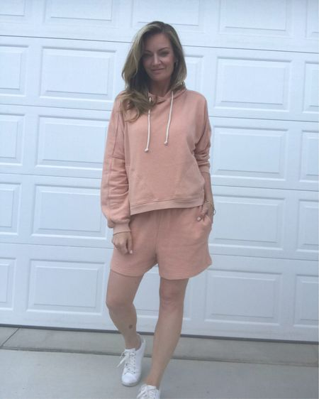 Hoodie with pockets and matching shorts my favorite   http://liketk.it/3jLY4 #liketkit @liketoknow.it #LTKstyletip #LTKunder50 Shop your screenshot of this pic with the LIKEtoKNOW.it shopping app
