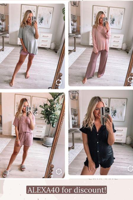 Pajamas // I wear size small // ALEXA40 for discount //   #LTKunder50 #LTKstyletip #LTKshoecrush