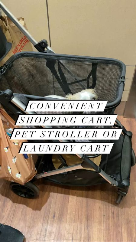 Joovy Boot - Convenient shopping cart, pet stroller or laundry cart. Our dog (@hi.ralphie) is a 15 pound Shih Tzu.   #LTKkids #LTKfamily #LTKbaby