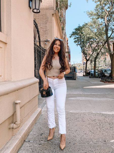 Was going to post this yesterday as a cute after work drinks look, but here we are… anyway loving an all neutral look per usual!  Of course wearing my fave @sarahflint_nyc pumps to complete the look — reminder: you can use my code SARAHFLINT-BACAREYS for $50 off your first pair (and not just the pumps, there are soooo many cute sandals for summer ☀️)  #LTKstyletip #LTKunder100 #LTKsalealert