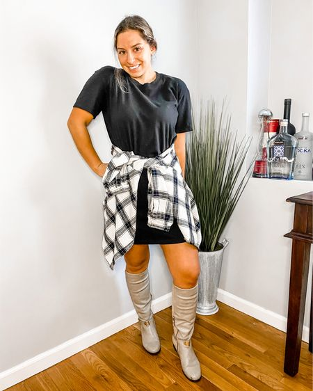 Your favorite tee shirt dress for the fall!  Shop my daily looks by following me on the LIKEtoKNOW.it shopping app @liketoknow.it #liketkit http://liketk.it/2WOvw
