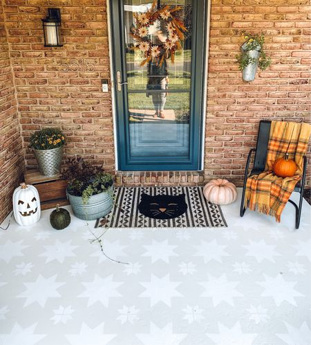 My front porch is ready for cozy season!   Outdoor decor, front porch, fall decor  #LTKSeasonal #LTKhome #LTKunder50