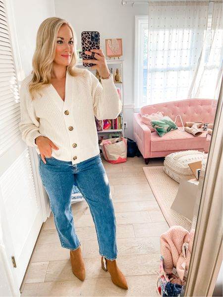 Chunky knit cardigan perfect for fall comes in tons of colors under $40  #LTKstyletip #LTKSeasonal #LTKunder50