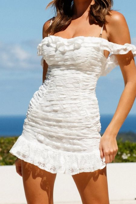 Shopping for summer fashion or for vacation? Check out this super cute white dress. This is one of my favorite white dresses (and sundresses) out of all fashion and summer fashion from a darling boutique #whitedress #sundress #summerfashion #hellomolly #dress #weddingdress #summeroutfits #LTKunder100 #LTKunder50 #LTKSeasonal #liketkit @liketoknow.it http://liketk.it/37xtg