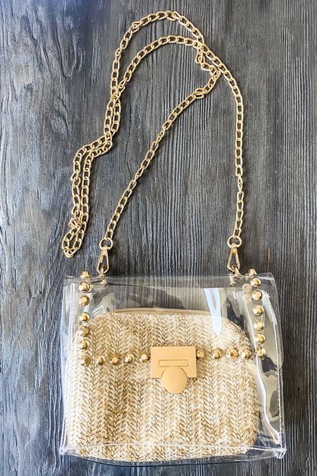 Clear purse two in one translucent purse  Gold purse from Amazon   Clear and gold purse   #LTKstyletip #LTKitbag #LTKtravel #amazonfashion   @liketoknow.it #liketkit http://liketk.it/3iTS4