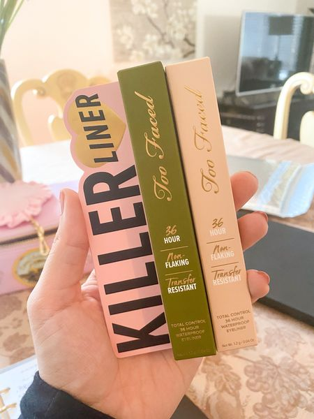 Two new colors in my eyeliner collection from the Too Faced Killer Liner line! Love green for the fall and nude for the water line!   #LTKbeauty #LTKsalealert #LTKunder50