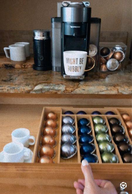 Nespresso under $150. Kitchen organization. Love this divider to set up our Nespresso coffee bar!   #LTKhome #LTKfamily #LTKGiftGuide