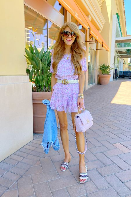 Yesterdays OOTD- just got this summer mini & am obsessed! The colors are so good and and the fit is comfy. Wearing XS. And sunnies are $15 🙌🏻 http://liketk.it/3hwVf #liketkit @liketoknow.it #LTKitbag #LTKunder50 #LTKshoecrush