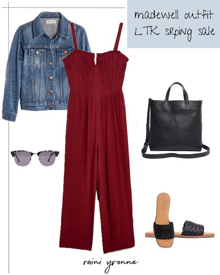 Madewell Outfit LTK Spring Sale  http://liketk.it/3ctRM @liketoknow.it #liketkit   #LTKSpringSale #LTKsalealert #LTKunder100  Madewell, Summer Outfit, Spring Outfit, Summer Fashion, Spring Fashion, Wedding Guest Outfit, Summer Dress, Jumpsuit, Jean Jacket, Slip Ons, Sunglasses, Spring Dress, Causal Outfit, Crossbody, Sale