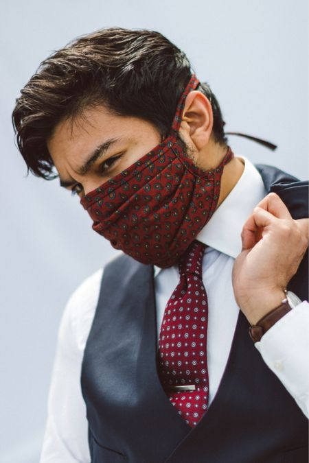 Face Mask, but make it dapper. Locally made in the Bronx, NY.   Face mask. Facemask. Suit. Menswear. Dapper face mask. Men's face mask. Bronx.    #LTKmens #LTKunder50 #LTKworkwear http://liketk.it/2VkCc #liketkit @liketoknow.it