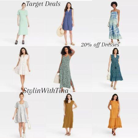 Target Deals 20% off Dresses, some in so many different colors and prints Summer dresses Cute and causal  White dress #LTKsalealert #LTKstyletip #LTKunder100 #LTKfamily #LTKshoecrush #LTKworkwear #LTKtravel #LTKitbag #LTKfit #LTKunder50 #Ltkdresses @liketoknow.it #liketkit http://liketk.it/3i8yr