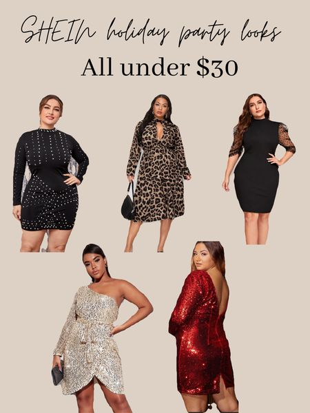 Ok where my curvy ladies at??? SHEIN has the most affordable dresses for your holiday parties this year !! I usually wear a 1x in all of their clothes!! #LTKholiday #LKTfall #LTKbeauty #StayHomeWithLTK #LTKunder50  #LTKcurves #LTKunder50 #LTKsalealert