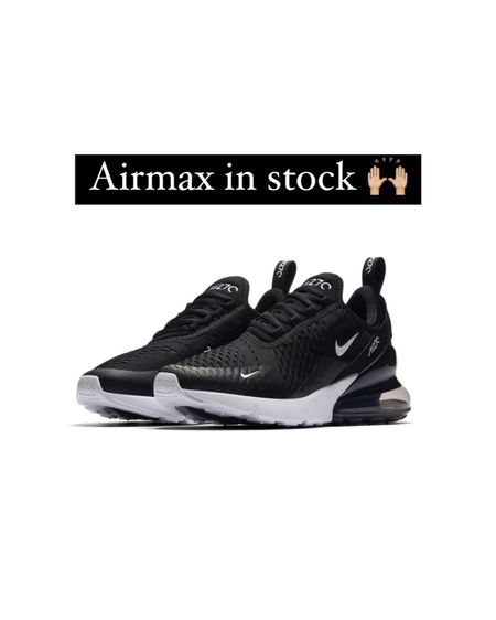 Nike Airmax 270 sneakers are FULLY IN STOCK! These sneakers are comfy & trendy! I wear my Airmax 270's almost every day! Sneakers run true to size! #liketkit #LTKshoecrush @liketoknow.it http://liketk.it/39Qtc