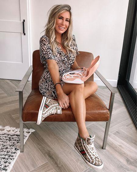 Ootd ..sale in my favorite microdermabrasion kit reg $299 on sale $119  Dress save 15% code KIM15  Gucci sneakers sz down 1/2 sz Modern chair  Black and cream boho rug   #LTKsalealert #LTKbeauty #LTKhome