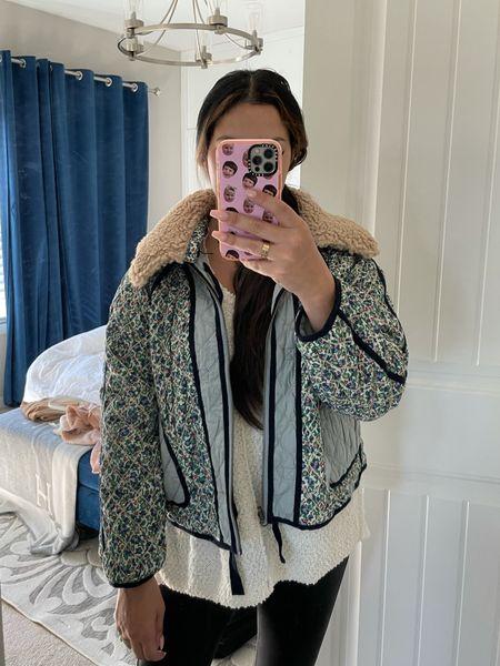 Quilted reversible jacket Sherpa   #LTKSeasonal