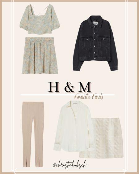 H&M finds    Blouse Skirt Matching set Split pants Denim jacket  #LTKunder50 #LTKunder100 #LTKSeasonal