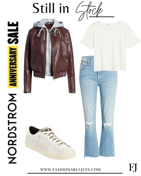 #nsale Casual outfit Day date outfit Faux leather jacket Vegan leather    #LTKunder100 #LTKsalealert #LTKstyletip