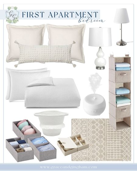 things that I've purchased for my first apartment bedroom from target, crate and barrel, the container store, macy's, wayfair, ikea, and lowe's!   the neutral shades are perfect for a calm and cozy bedroom, and the drawer and closet organizers from the container store help to keep my clothes neat and organized!   http://liketk.it/3jJmL #liketkit @liketoknow.it #LTKhome @liketoknow.it.home #LTKunder100 #LTKunder50