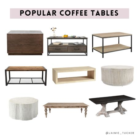 Coffee Table Inspo for your home! | #coffeetable #bestsellers #homedecor #homefurniture #homefinds #homerefresh #popularcoffeetables #JaimieTucker   #LTKhome #LTKstyletip