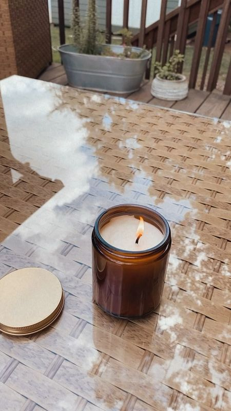 affordable clean citronella candle for your outdoor spaces, a must have for fall evenings outdoors - comes in a set of two (under $20)   #LTKhome #LTKSeasonal #LTKunder50