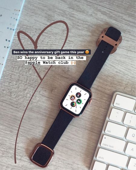 Apple Watch series 5 (size 40) with a buckle band 😍 http://liketk.it/2H2Dx #liketkit @liketoknow.it Christmas gift ideas, holiday shopping ideas, gift ideas for her, gifts for him, Apple Watch, office supplies, tech gifts, active gifts, computer supplies