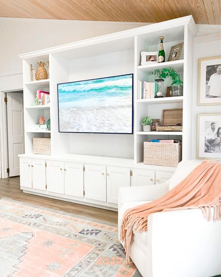 Looks like the rug is a keeper. You guys loved the subtle pop of color more than the jute rug and so do I. It's slightly larger so gives a little more play area for game night, impromptu dance recitals, concerts and whatever else the girls dream up. 💕 Our 9x12 is linked along with the corner rug pads I use to keep it in place, this white swivel chair and a few other living room details. http://liketk.it/3b4eO #liketkit @liketoknow.it #LTKhome #StayHomeWithLTK #competition #ltkseasonal