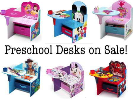 Preschool size desks on sale! Great for homeschool kids study area   Shop your screenshot of this pic with the LIKEtoKNOW.it shopping app #LTKunder50 #LTKfamily #LTKhome @liketoknow.it.home @liketoknow.it @liketoknow.it.family http://liketk.it/2UB6a #liketkit child desk preschool playroom toddler desk toddler table