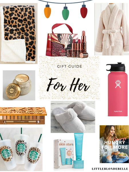 Gift Guide For Her ❤️🎁 http://liketk.it/2GYtL #liketkit @liketoknow.it #LTKholidaystyle #LTKholidayathome #LTKholidaygiftguide  . . . Gift guide, Christmas gift guide, holiday gift guide, amazon gift guide, fitness gift guide, cozy gift guide, gift guide for her, gift guide for him, hostess gift guide, stocking stuffers gift guide, beauty lovers gift guide, Christmas gifts, Gift guide for the homebody, river, water bottle, cookbook, candle, Tula