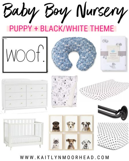 With baby #2, I decided to go with a puppy themed nursery with black + white accents for my son. These are the pieces I chose, including furniture, blankets, wall decor, curtain rods, etc. I had so much fun putting this baby boy room together! 💙👶🏼 http://liketk.it/2TpV1 #liketkit @liketoknow.it #LTKbump #LTKbaby #LTKkids @liketoknow.it.home @liketoknow.it.family